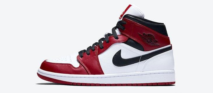Air Jordan 1 Mid Chicago 小芝加哥 货号:554724