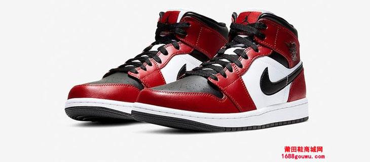 Air Jordan 1 Mid Chicago Black Toe 芝加哥脚趾 货号:554724